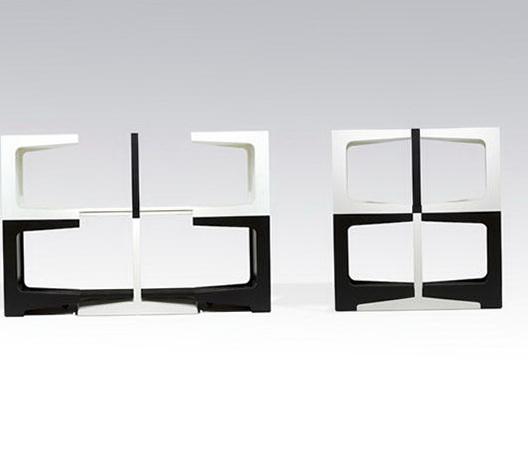 1-Black and white shelves