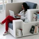 Chair with bookshelves