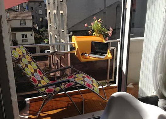 1-Convenient hanging table for small apartments