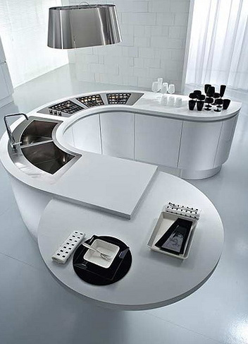 1-Rounded table in the kitchen