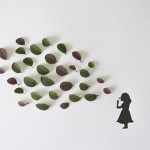 Beautiful collage with leaves from Tang Chiew Ling