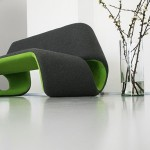 Beautiful sofa gray green