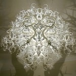 Chandelier lays aside the interesting shadow