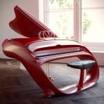 Beautiful futuristic piano
