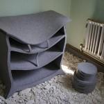 Warm furniture made of felt
