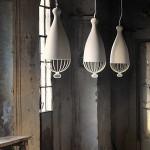 White beautiful chandeliers