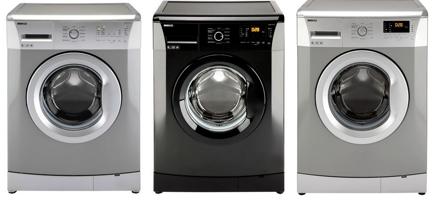 Beko Spin Washing Machine in Silver and Black